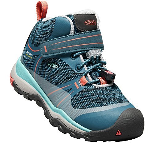 Pictures of KEEN Unisex Terradora MID WP Hiking Shoe 1018385 Aqua Sea/Coral 3