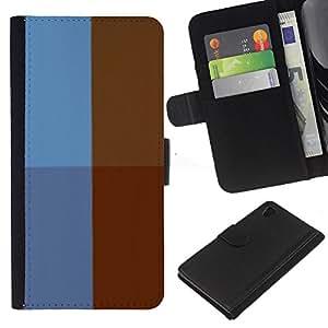 Planetar® Modelo colorido cuero carpeta tirón caso cubierta piel Holster Funda protección Para Sony Xperia Z4 / Sony Xperia Z4V / E6508 ( Simple Pattern 34 )