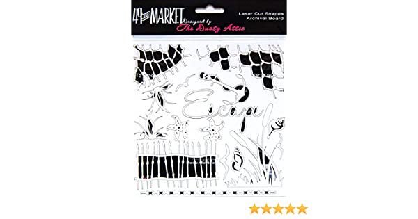 49 and Market AB86-688 Archival Chipboard 6X6-Outdoors