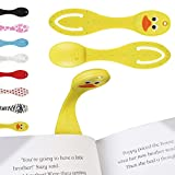 Book Light for Reading in Bed - Clip on LED Reading Light & Bookmark - Batteries Included - Great Birthday & Christmas Gift for Boys & Girls - Yellow Duck