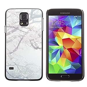 [Neutron-Star] Snap-on Series Teléfono Carcasa Funda Case Caso para Samsung Galaxy S5 [Primavera pétalos de la flor Flor de cerezo de Japón]