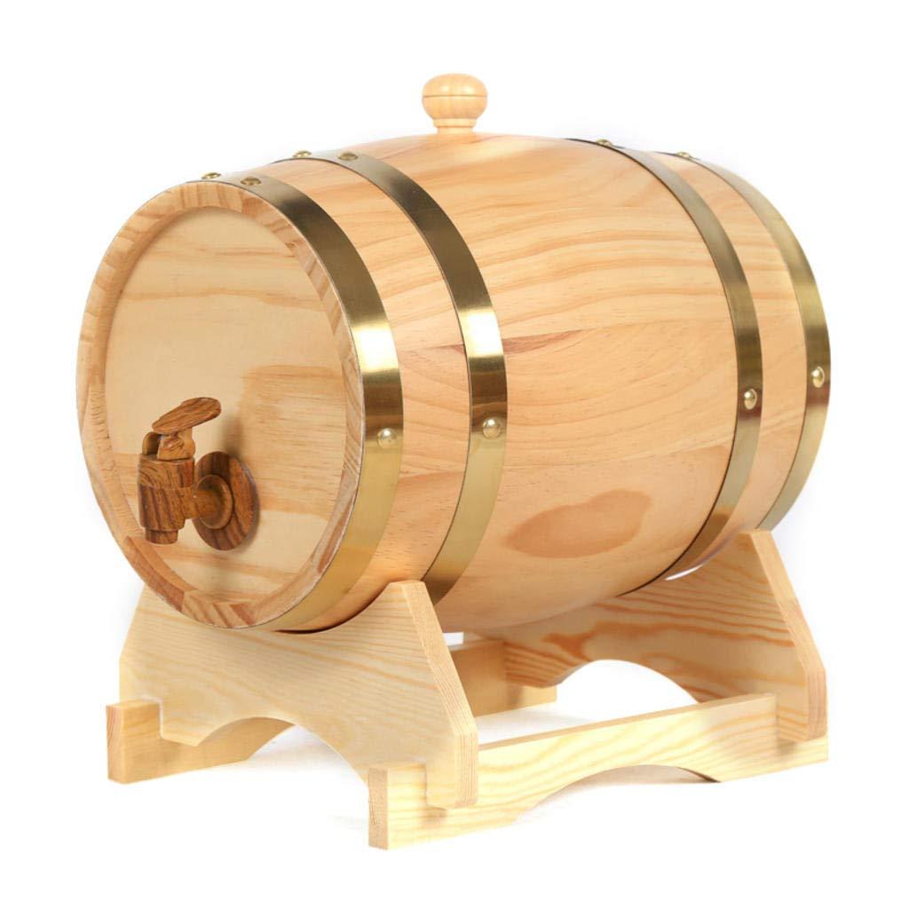 15 Liters Oak Storing Barrel Built-in Aluminum Foil Liner for Storing Your own Whiskey, Beer, Wine, Bourbon, Brandy, Hot Sauce & More 1.5L AMCER