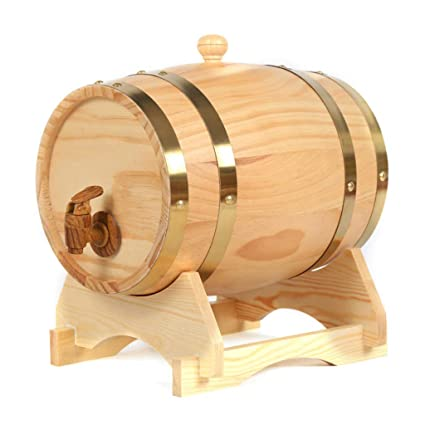 WHISKY 15 Liters Oak Storing Barrel Built-in Aluminum Foil Liner for Storing Your own