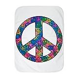 Royal Lion Baby Blanket White Peace Symbols Inside Tye Dye Symbol