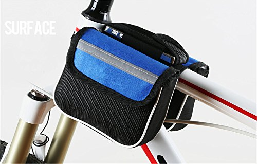 Surborder Shop Popular Bicycle Cycling Top Tube Saddle Bag Bike Frame Pannier Bag Rack Double Side with Mobile Phone Pouch