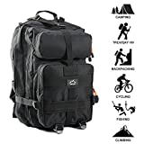 Tactical Backpack - Hetto Large Military Tactical Backpack Large Army 3 Day Assault Pack Army MOLLE Bug Out Bag Waterproof 1000D Nylon for Outdoor Hiking Camping Trekking Hunting Travel School Daypack