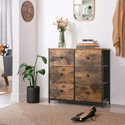 SONGMICS Rustic Drawer Dresser