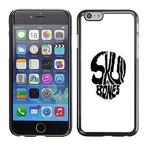 EJOY---Cubierta de la caja de protección la piel dura para el ** Apple Iphone 6 Plus 5.5 ** --Huesos del cráneo