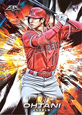 Image result for 2018 topps fire shohei ohtani