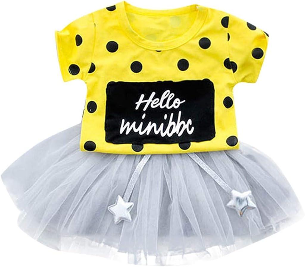 OHQ Prinzessin Baby Kleid,M/ädchen Kleider Kleinkind Strampler Bowknot Spielanzug+Tutu Rock+Stirnband T/üllkleid 3pcs Set Neugeborenes Maxikleid Minikleid