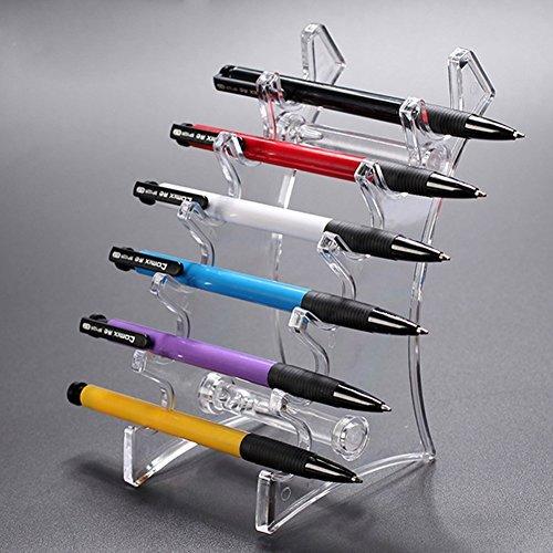 Eyebrow Pens Eyeliner Frame Display Pen Holder Stand Racks (Transparent)