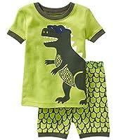 "Babyroom ""Dinosaur"" Boys'2 Piece 100% Cotton Short Pajama Set Size 2T-10T"