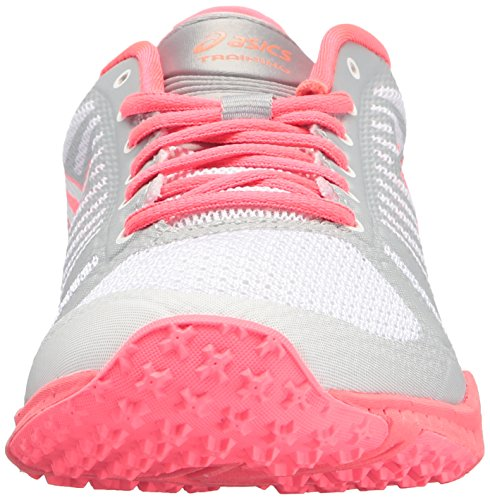 ASICS Women's FuzeX TR Cross-Trainer Shoe White/Diva Pink/Mid Grey clearance cost For sale online amazon cheap price outlet order online gYMdcHSrQm