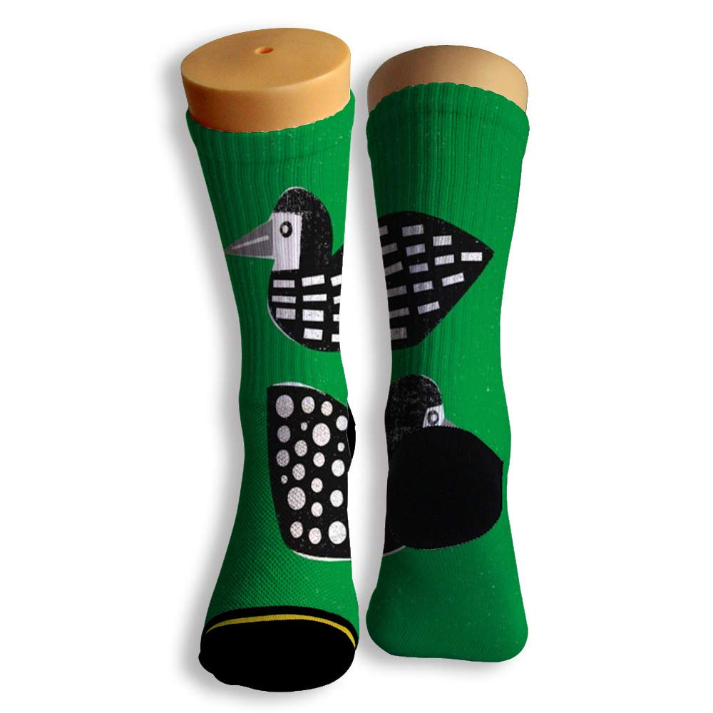 Basketball Soccer Baseball Socks by Potooy Cute Duck Patterned 3D Print Cushion Athletic Crew Socks for Men Women