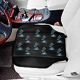 Zone Tech Cooling Car Seat Cushion Pad - Black 12V Automotive Adjustable Temperature Comfortable Cooling Car Seat Cushion Pad