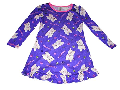 a7e68ceaa4 Big Girls Puppy Dog Kitty Cat Sleep Gown Nightgown Sleepwear ...