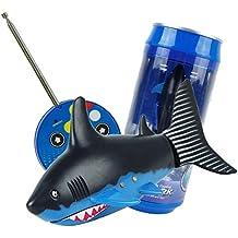 Kocome Coke Can Radio Remote Control RC Mini Shark Fish Kids Electric Water Game Toy