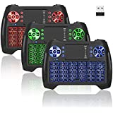 Mini Wireless Keyboard With Touchpad, Vive Comb 2.4G Rechargeable Backlit Handheld Remote Control Keyboard and Mouse Combo with Multimedia Keys for Android TV Box, PC, PAD, Smart TV, X-BOX, HTPC