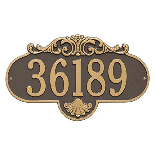 """Custom Rochelle Standard WALL 1 Line Address Plaque 16""""W x 9""""H (Standard Plaque Address Wall)"""