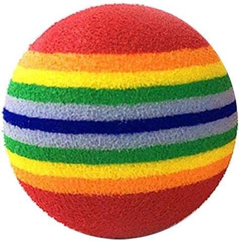 Pelota de juguete para gato Pawaca, pelota de arcoíris de 1,65 ...