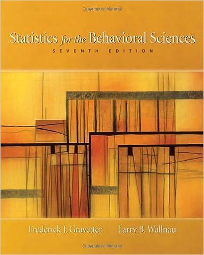 Statistics For The Behavioral Sciences Gravetter Pdf