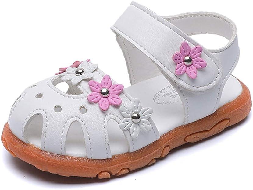 Conquro Sandalias para Bebés Niñas Zapatos Planos de Niña de Verano Zapatos Las Sandalias Huecos de Las Flores de Los Bebés Soft-Soled Princesa Calzan Los Zapatos del Verano de Firstwalker