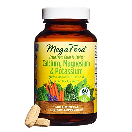 MegaFood - Calcium, Magnesium & Potassium, Promotes Healthy Bones, Muscles, Blood Pressure Levels, and Cardiovascular Health, Vegetarian, Gluten-Free, Non-GMO, 60 Tablets - Total Cleanse Multi System