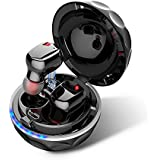 Wireless Earbuds, TMKEFFC True Wireless Bluetooth Headphones Mini Sweatproof Sports Earphones Twins Bass Stereo In-Ear Noise Cancelling with Built-in Microphone and Charging Case for Runing,Gym