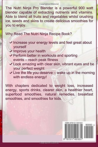 Nutri Ninja Recipe Book: 70 Smoothie Recipes for Weight Loss ...