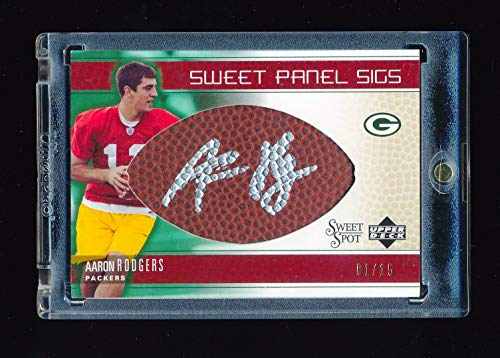 AARON RODGERS 2005 SWEET SPOT SWEET PANEL SIGS AUTOGRAPH AUTO RC # 01/15 PACKERS