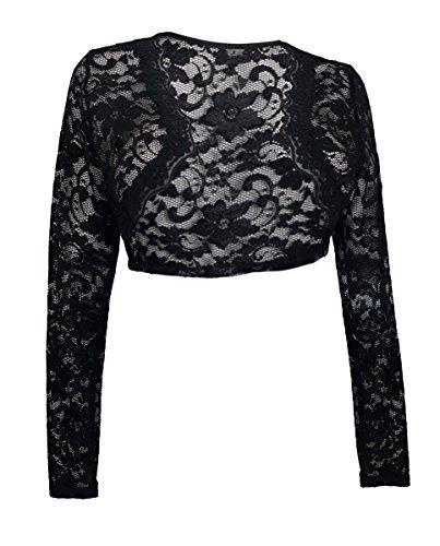 Long Sleeve Lace Cropped Bolero