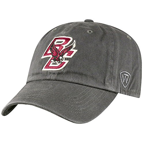 Top of the World NCAA Boston College Eagles Men's Adjustable Relaxed Fit Charcoal Icon Hat, Charcoal