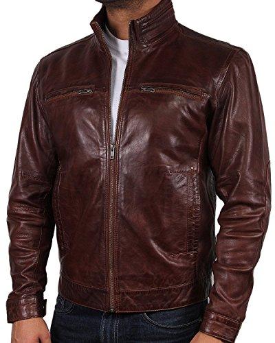 capa Bombardero chaqueta de del cuero la hombre diseñador del Brandslock Para del motorista xnOzwHOT8q