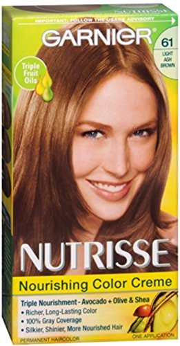 Garnier Nutrisse Haircolor - 61 Mochaccino (Light Ash Brown) 1 Each (Pack of 8)