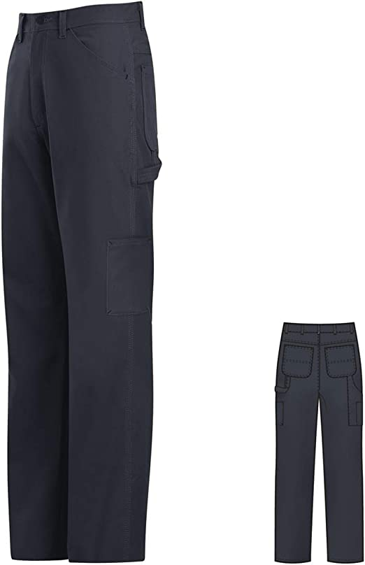 Bulwark 36 X 30 Navy Cotton Nylon Flame Resistant Dungarees With Button Closure