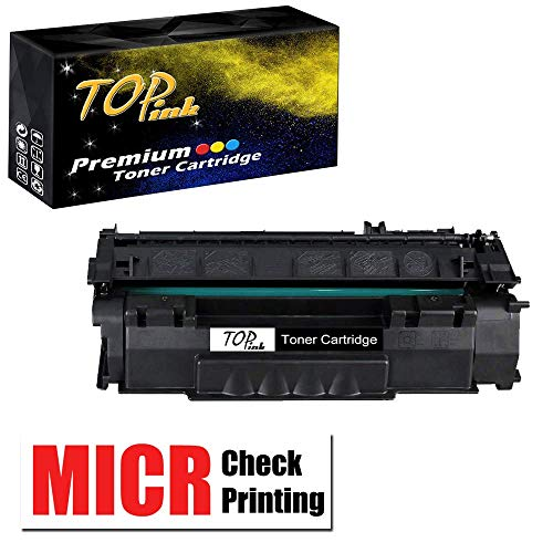 (TopInk Compatible Q7553X MICR Toner Cartridge Replacement for Q7553X Printer Toner Cartridge-1 Pack)