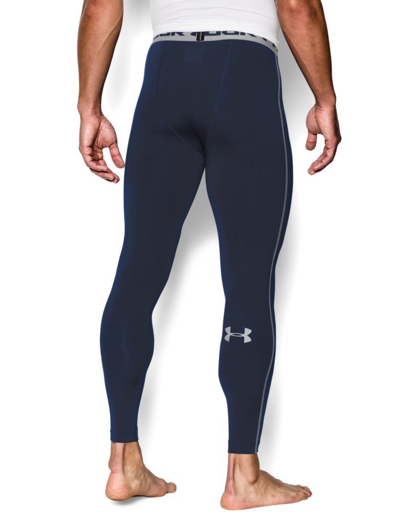 Under Armour Men's HeatGear Armour Compression Leggings, Midnight Navy /Steel, X-Large by Under Armour (Image #2)