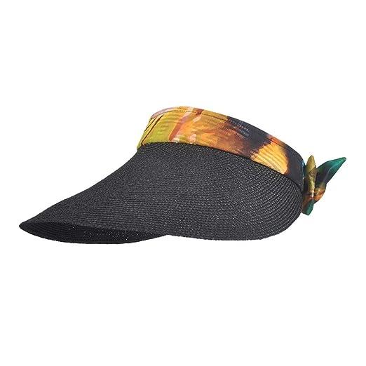Sombreros Gorras Visera Playa para Mujer Pescador Playa Paja ...
