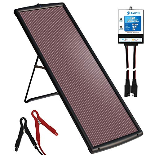 Waterproof 25W 12V Solar Battery Charger & Maintainer Pro - Intelligent and efficient charging controller - Portable Solar Panel Trickle Charging Kit for Car RV Marine Boat Truck Trailer Tract