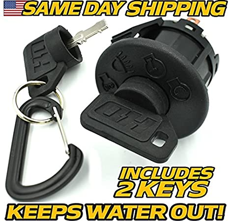 amazon com : john deere starter ignition switch lt150, lt155, lt160,  ltr155, ltr166, ltr180, w/headlights - oem upgrade w/2 key - hd switch :  garden &