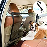 Yunzhu Car Pet Barrier Dog Vehicle Backseat Mesh,Universal Elastic Safety Car Seat Net for SUV Vans Trucks,Disturb Stopper from Children and Pets,Include Pet Seat Safety Belts Review