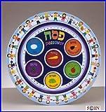"""Melamine Children's Seder Plate  9.0""""D"""