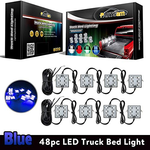 - Partsam Truck Box Light 48-5050-SMD Blue LED Pickup Truck Bed Light Cargo Area Tail Light Fit All 12V Vehicles Replacement for GMC/Dodge Ram 1500 2500 3500