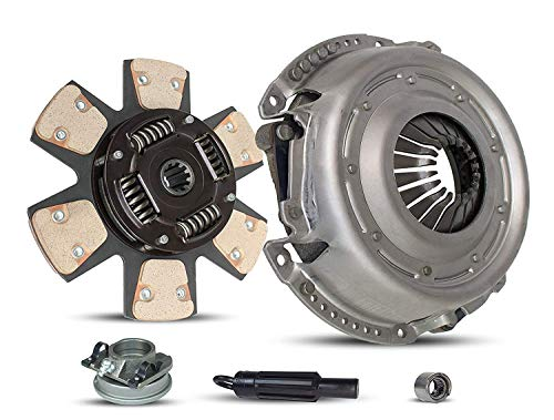 Clutch Kit Works With Jeep CJ7 Grand Wagoneer J10 Cherokee Wagoneer Base Renegade Laredo Limited Chief Pioneer Track Brougham 1980-1986 4.2L L6 GAS OHV Naturally Aspirated (6-Puck Clutch Disc Stage 2)