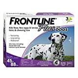 Frontline Plus for Dogs Large Dog (45 to 88 pounds) Flea and Tick Treatment, 3-Doses: more info