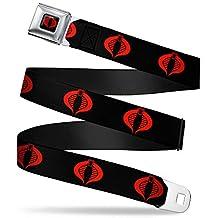 Gi Joe Cobra Logo Full Color Black Red Gi Joe Cobra Logo Black Red Webbing Seatbelt Belt Kids