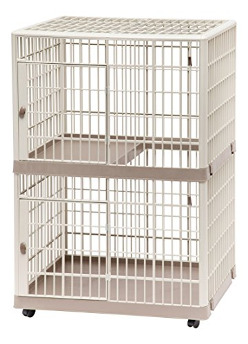 IRIS 2-Tier Cat Cage, Tan