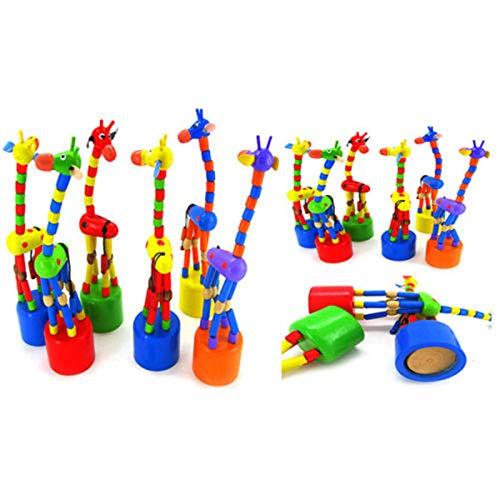 Kids Intelligence Toy Dancing Stand Colorful Rocking Giraffe