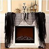 "Halloween Creepy Black Cloth, 85"" x 275""Spooky"