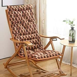 Amazon.com: Cojín grueso para silla mecedora, cojín para ...